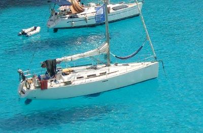 alquiler velero con patron